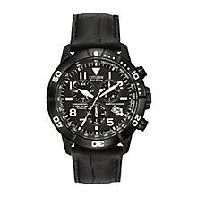 Citizen Eco Drive Men's Titanium Black Strap Watch - Product number 2829673