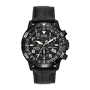 Citizen Eco Drive Men's Titanium Black Strap Watch - Product number 2829673