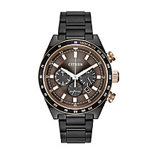 Citizen Eco-Drive Men's Ion-Plated Bracelet Watch - Product number 2829754