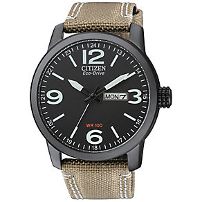 Citizen men's black ion plated strap watch - Product number 2829835