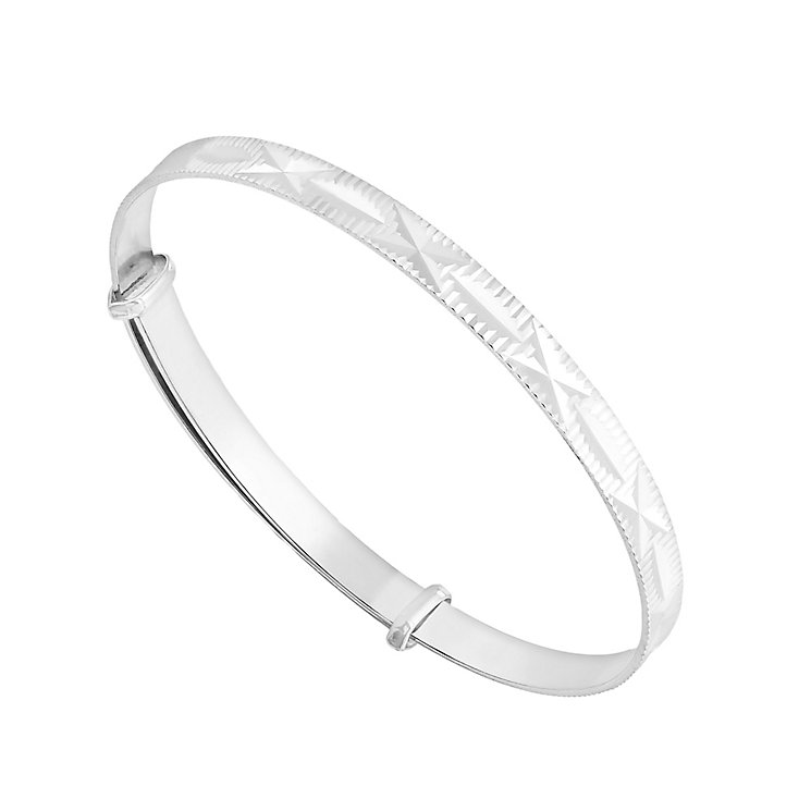 Silver expandable child's bangle - Product number 2830132