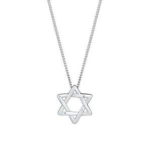 Sterling silver Star of David pendant - Product number 2830175