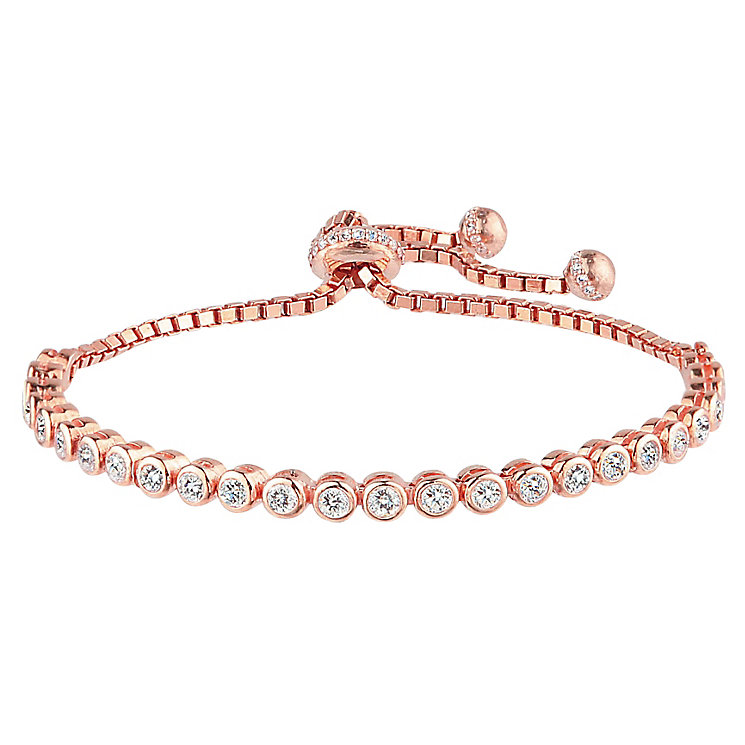 Rose gold-plated tennis bracelet - Product number 2830191