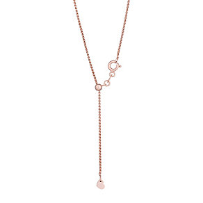Silver and rose gold-plated spiga necklace - Product number 2830361