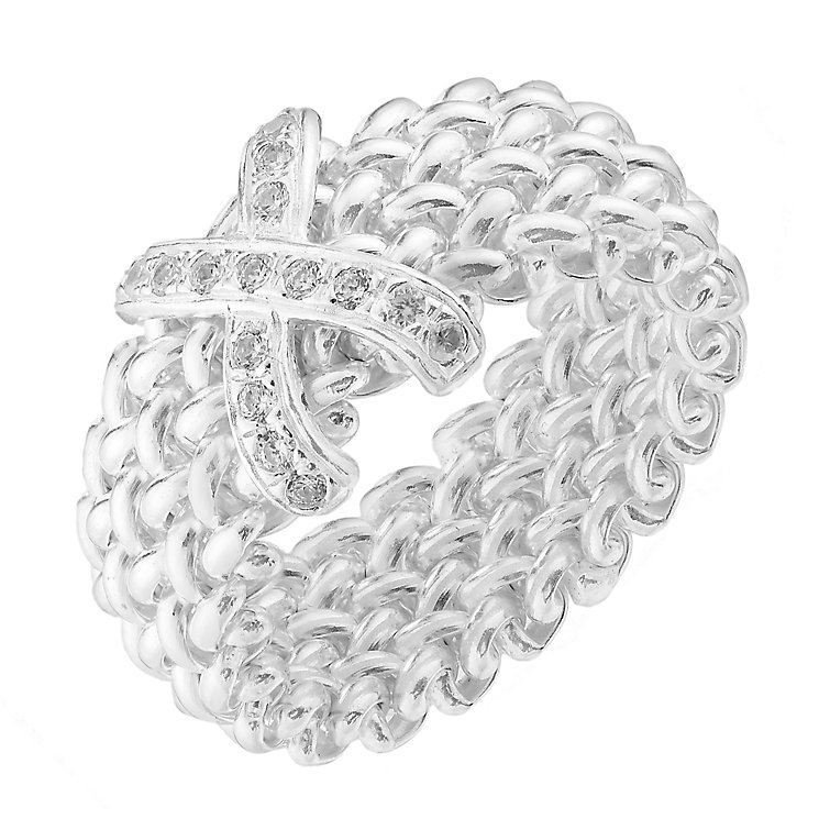 Sterling silver cross woven ring - Product number 2831473