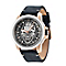 Police Men's Skull Design Dial & Black Leather Strap Watch - Product number 2832119