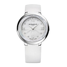 Baume & Mercier Promesse ladies' white strap watch - Product number 2832275