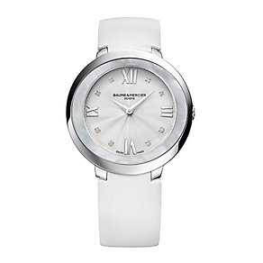 Baume and Mercier Promesse ladies' white strap watch - Product number 2832275