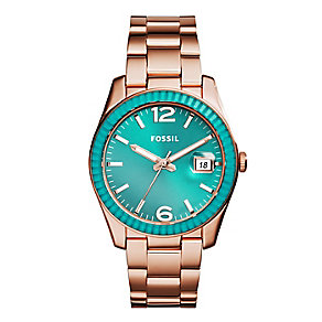 Fossil ladies' rose-gold plated bracelet watch - Product number 2832313