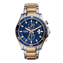 Fossil men's two colour bracelet watch - Product number 2832356