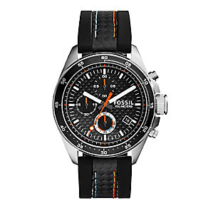 Fossil Decker men's black leather strap watch - Product number 2832380