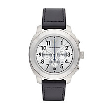 Emporio Armani Men's Black Leather Strap Watch - Product number 2832437