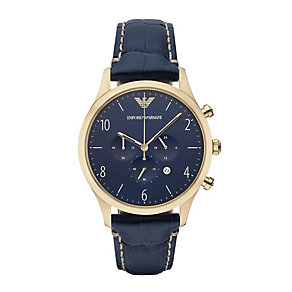 Emporio Armani men's navy blue strap watch - Product number 2832453