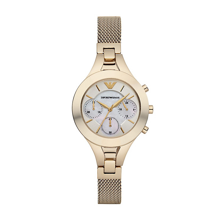 Emporio Armani Ladies' Gold Tone Bracelet Watch - Product number 2832496