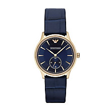Emporio Armani Ladies' Navy Blue Leather Strap Watch - Product number 2832518