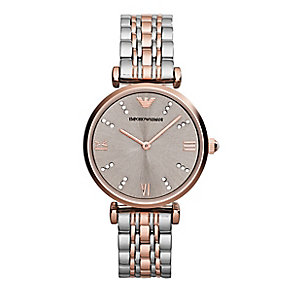 Empori Armani ladies' two colour bracelet watch - Product number 2832534