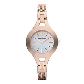 Emporio Armani Ladies' Rose Gold Tone Mesh Bracelet Watch - Product number 2832550
