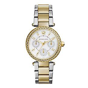 Michael Kors ladies' stone set chronograph bracelet watch - Product number 2832577