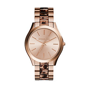 Michael Kors ladies' rose gold-plated bracelet watch - Product number 2832623