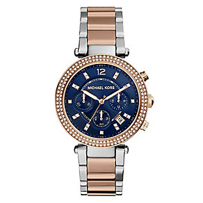 Michael Kors ladies' two colour  bracelet watch - Product number 2832658