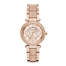 Michael Kors rose gold-tone stone set bracelet watch - Product number 2832666