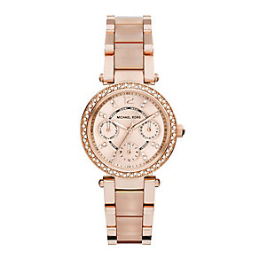 Michael Kors rose gold-plated stone set bracelet watch - Product number 2832666