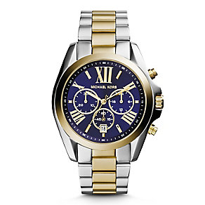 Michael Kors ladies' two colour chronograph bracelet watch - Product number 2832682