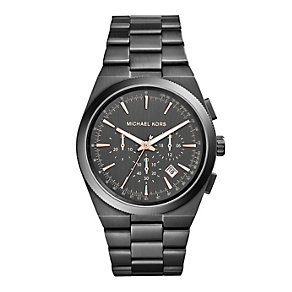 Michael Kors men's grey ion plated bracelet watch - Product number 2832879
