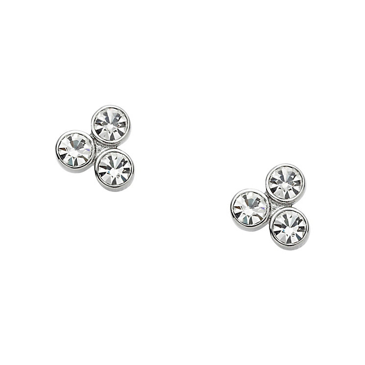 Fossil stainless steel three stone stud earrings - Product number 2832933