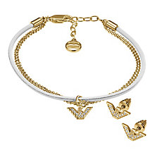 Emporio Armani gold tone bracelet and earring set - Product number 2833042