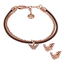 Emporio Armani rose gold tone bracelet and earring set - Product number 2833050