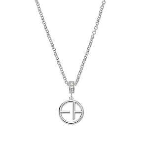 Emporio Armani Sterling Silver Logo Necklace - Product number 2833069