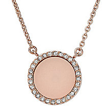 Michael Kors Rose Gold Tone Stone Set Necklace - Product number 2833336