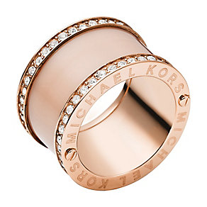 Michael Kors rose gold plated stone set ring - Product number 2833433