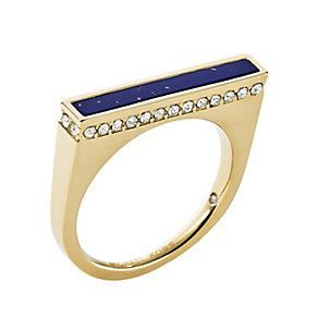 Michael Kors gold-plated blue lapis stone set ring - Product number 2833506