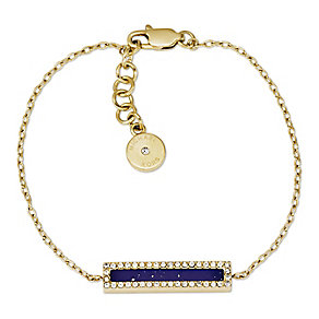 Michael Kors gold plated blue lapis stone set bracelet - Product number 2833514