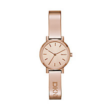 DKNY Ladies' Soho Rose Gold Plated Half Bangle Watch - Product number 2833638