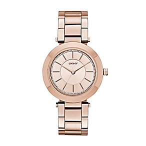 DKNY Ladies' Stanhope Rose Gold Plated Bracelet Watch - Product number 2833662