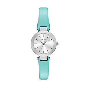 DKNY Ladies' Stanhope Slim Blue Leather Strap - Product number 2833697