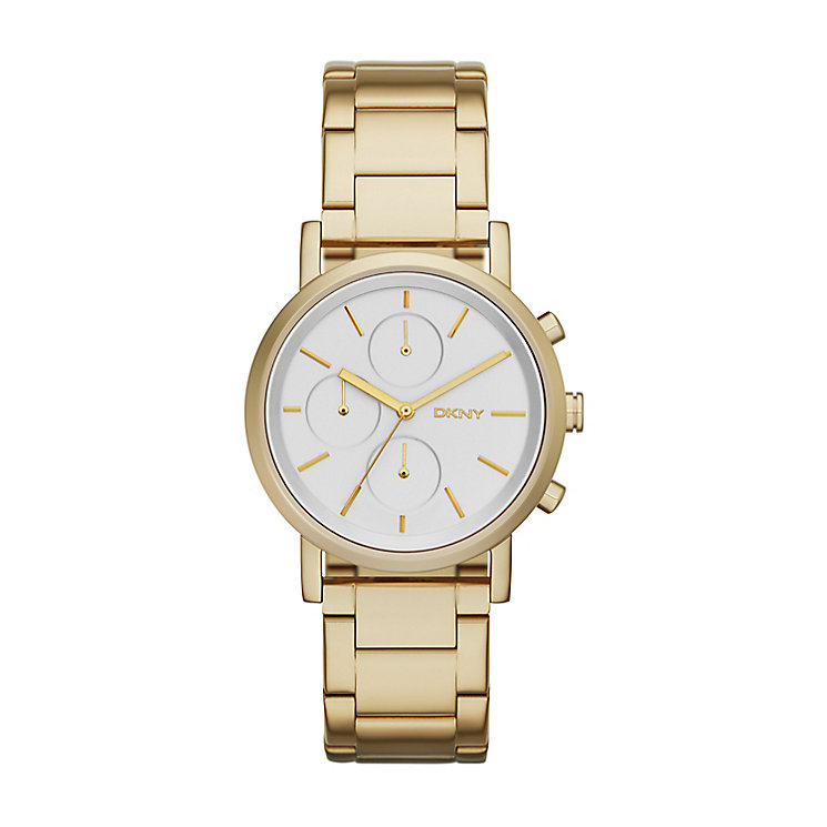 DKNY Ladies' Yellow Gold Plated Stanhope Bracelet Watch - Product number 2833743