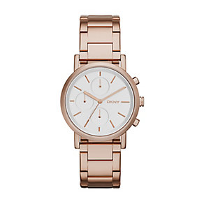 DKNY Ladies' Rose Gold Plated Stanhope Bracelet Watch - Product number 2833751