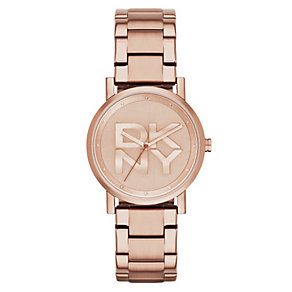 DKNY SoHo Ladies' Rose Gold Tone Bracelet Watch - Product number 2833859