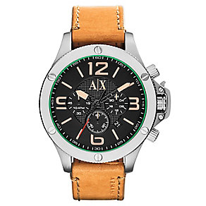 Armani Exchange Men's Active Tan Leather Strap Watch - Product number 2834065