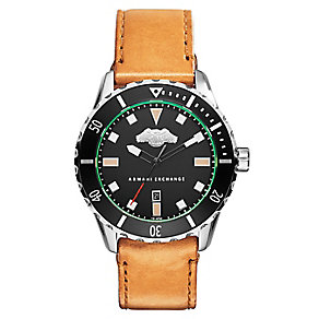 Armani Exchange Men's Active Tan Leather Strap Watch - Product number 2834103
