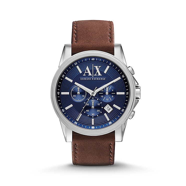 Armani Exchange Men's Brown leather Strap Watch - Product number 2834219