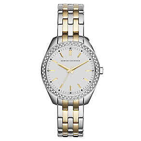 Armani Exchange Ladies' Two Tone Stone Set Bracelet Watch - Product number 2834278