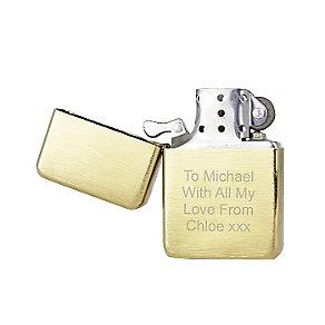 Engraved Golden Brushed Lighter - Product number 2834340