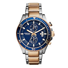 Fossil Men's Wakefield Silver & Rose Gold Toned Watch - Product number 2836769