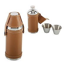Round Leather 8oz Flask - Product number 2836866