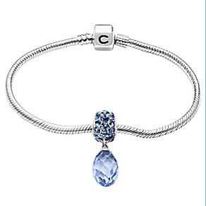 Chamilia Silver Bracelet With Blue Swarovski Crystal Bead - Product number 2837080